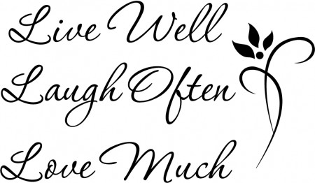 live well laugh often love much wallsticker motiverende veggdekor. Black Bedroom Furniture Sets. Home Design Ideas