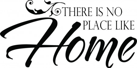 there is no place like home 2 wallsticker diverse wallstickers. Black Bedroom Furniture Sets. Home Design Ideas