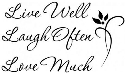 Live well laugh often love much wallsticker wallstickers