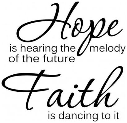Hope is hearing the melody of the future wallsticker wallstickers