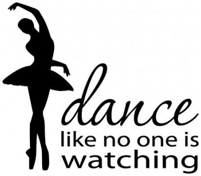 Dance like no one is watching wallsticker wallstickers