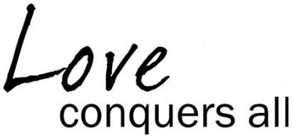 Love conquers all wallsticker wallstickers