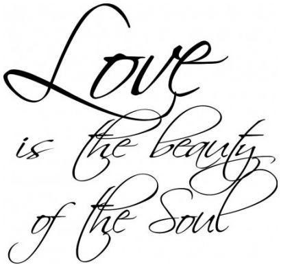Love is the beauty of the soul wallsticker wallstickers