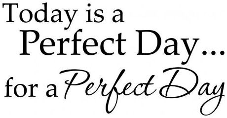 Today is a perfect day for a perfect day wallsticker wallstickers