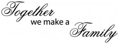 Together we make a family wallsticker wallstickers