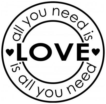 All you need is love wallsticker wallstickers