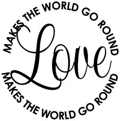 Love makes the world go round wallsticker wallstickers