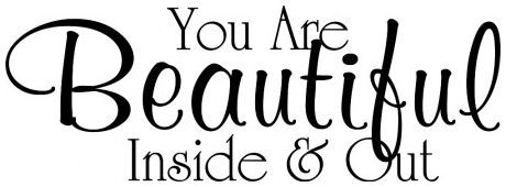 You are beautiful inside and out wallsticker wallstickers