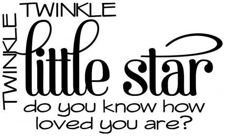 Twinkle twinkle little star wallsticker wallstickers