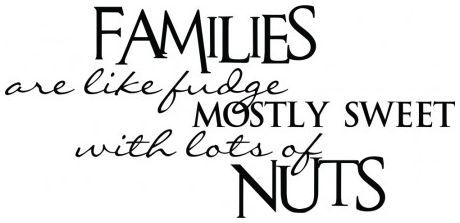 Families are like fudge wallsticker wallstickers