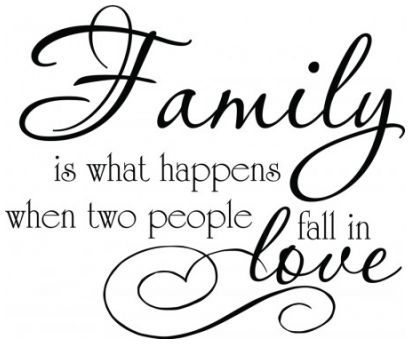 Family is what happens when two people fall in love wallsticker wallstickers