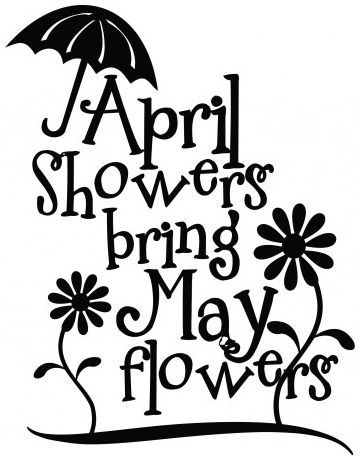 April showers bring may flowers wallsticker wallstickers