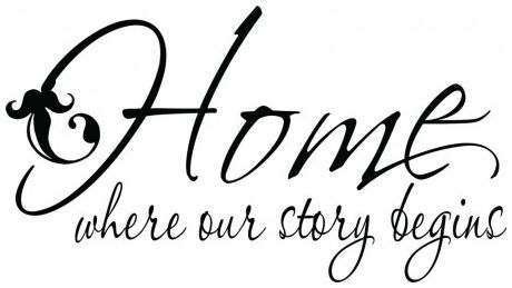 Home where our story begins wallsticker wallstickers