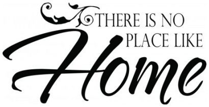 There is no place like home 2 wallsticker wallstickers