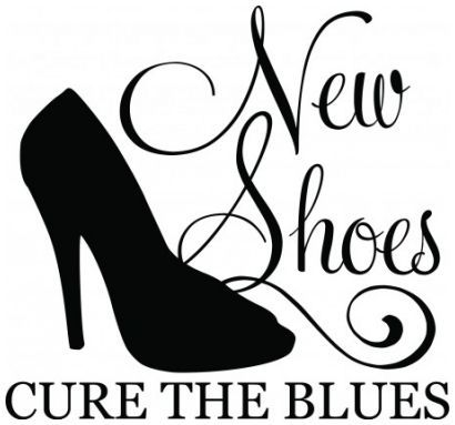 New shoes cure the blues wallsticker wallstickers