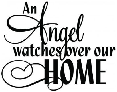 An angel watches over our home wallsticker wallstickers