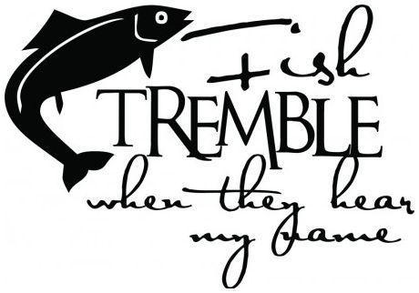 Fish tremble when they hear my name wallsticker wallstickers