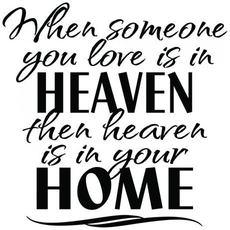 When someone you love is in heaven wallsticker wallstickers