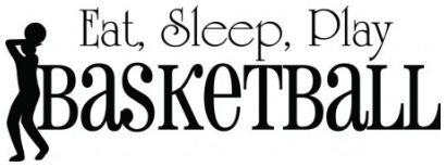 Eat sleep play basketball wallsticker wallstickers