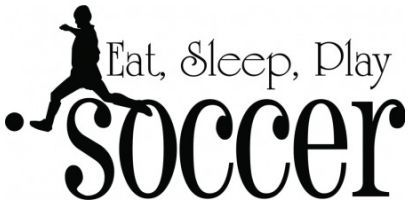 Eat sleep play soccer wallsticker wallstickers
