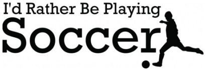 Id rather be playing soccer wallsticker wallstickers