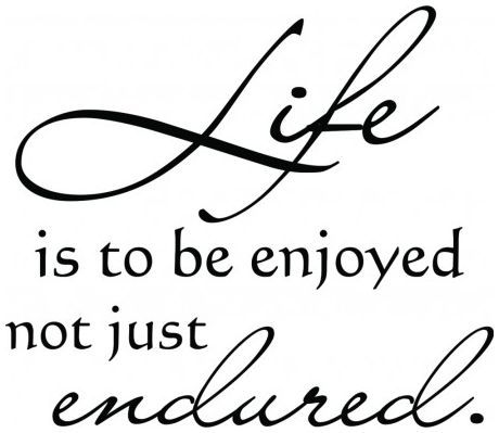 Life is to be enjoyed not just endured wallsticker wallstickers