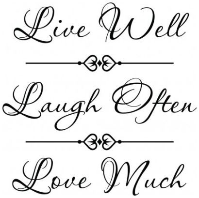 Life well laugh often love much wallsticker wallstickers