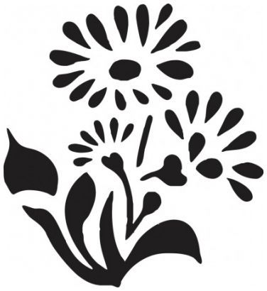 Blomst 5 wallsticker wallstickers