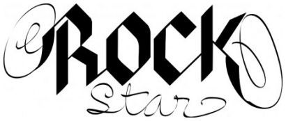 Rockstar wallsticker wallstickers