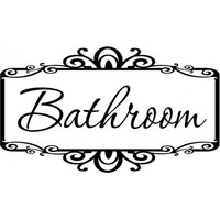 Bathroom wallsticker