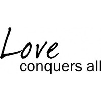 Love conquers all wallsticker