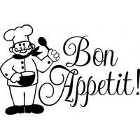 Bon Appetit Chef wallsticker