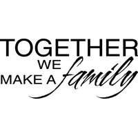 Together we make a family 2 wallsticker