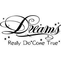 Dreams really do come true wallsticker