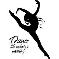 Dance like nobodys watching wallsticker