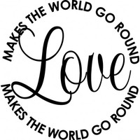 Love makes the world go round wallsticker