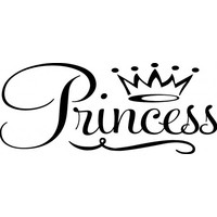 Princess wallsticker