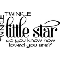Twinkle twinkle little star wallsticker