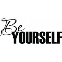Be yourself wallsticker