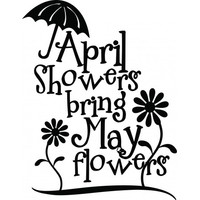 April showers bring may flowers wallsticker
