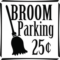 Broom parking 25 cents wallsticker