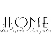 Home where the people who love you live wallsticker