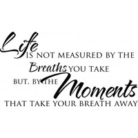 Life is not measured by the breaths wallsticker