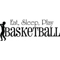 Eat sleep play basketball wallsticker