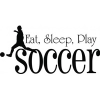 Eat sleep play soccer wallsticker