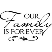 Our family is forever wallsticker