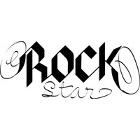Rockstar wallsticker